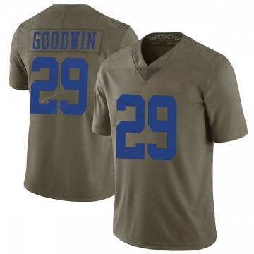 Men's C.J. Goodwin Dallas Cowboys Limited Green 2017 Salute to Service Jersey