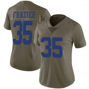 Women's Kavon Frazier Dallas Cowboys Limited Green 2017 Salute to Service Jersey