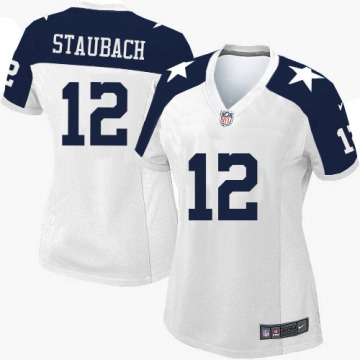 Women's Roger Staubach Dallas Cowboys Limited White Throwback Alternate Jersey