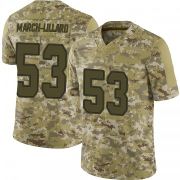 Youth Justin March-Lillard Dallas Cowboys Limited Camo 2018 Salute to Service Jersey