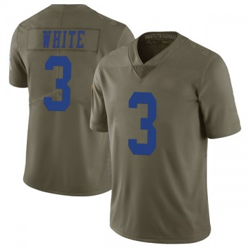 Youth Mike White Dallas Cowboys Limited Green 2017 Salute to Service Jersey
