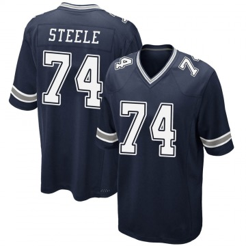 Youth Terence Steele Dallas Cowboys Game Navy Team Color Jersey